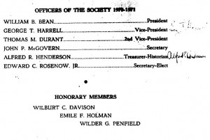 First slate of AOS officers, 1970-71