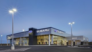 Benike Construction was selected as the general contractor for the brand new Clements Subaru dealership in Rochester, Minnesota. This new dealership is a spinoff of the original Clements Chevrolet Cadillac Subaru dealership in Rochester but is nearly four times the size. Everything about the new building was designed with the customer in mind to include a spacious showroom and a two-bay service center. The new lot can accommodate up to 200 new and used vehicles, where the previous site could only hold 40 vehicles.