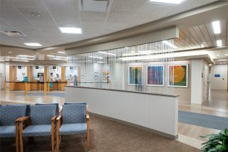 The renovation of the Baldwin Building, within Mayo Clinic's Rochester campus was for the lobby, pharmacy, and patient rooms. Benike Construction completed this project.