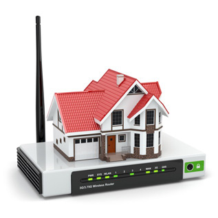 Image showing a house on a router