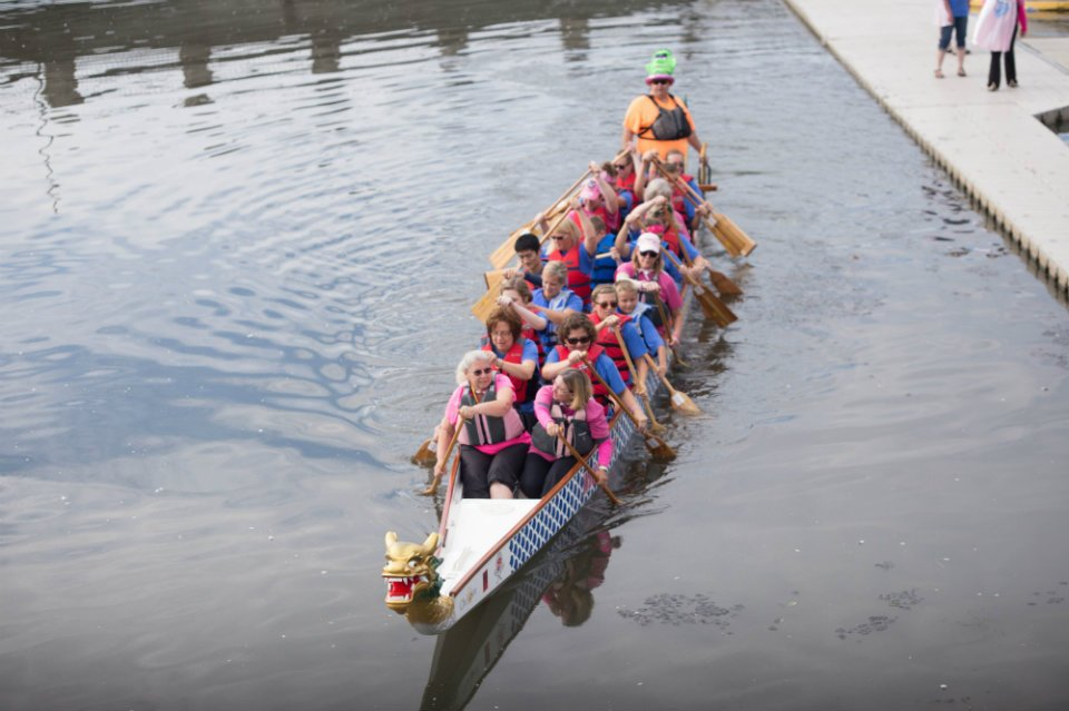Dragonboat on Silver Lake - photo by Sandy Brinkman Photography