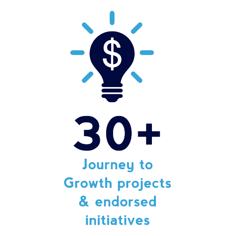 30+ Journey to Growth projects & endorsed initiatives