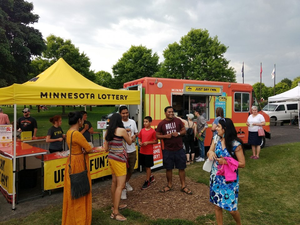 Minnesota Lottery Booth