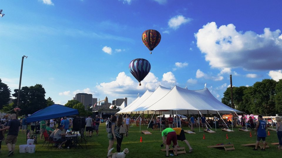 Hot Air Balloons over Fest