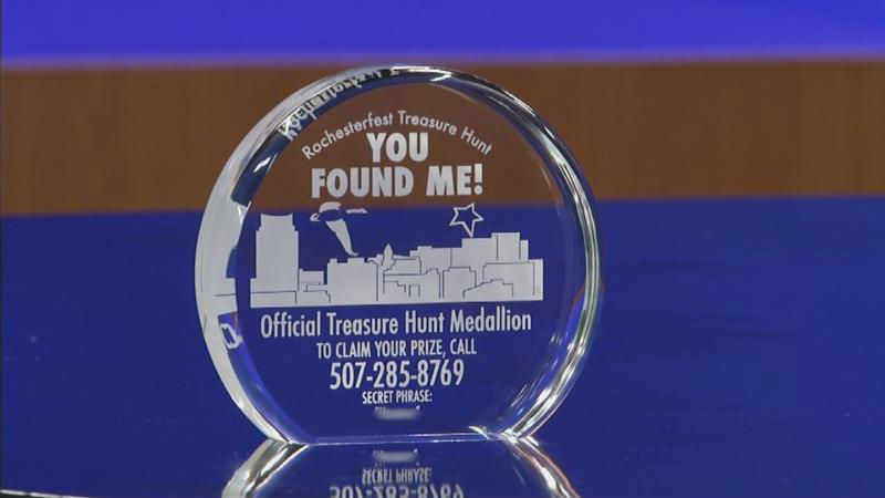Rochesterfest Treasure Medallion - image courtesy kaaltv.com