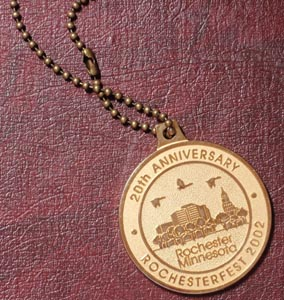 Rochesterfest Treasure Medallion - 2008 to 2015