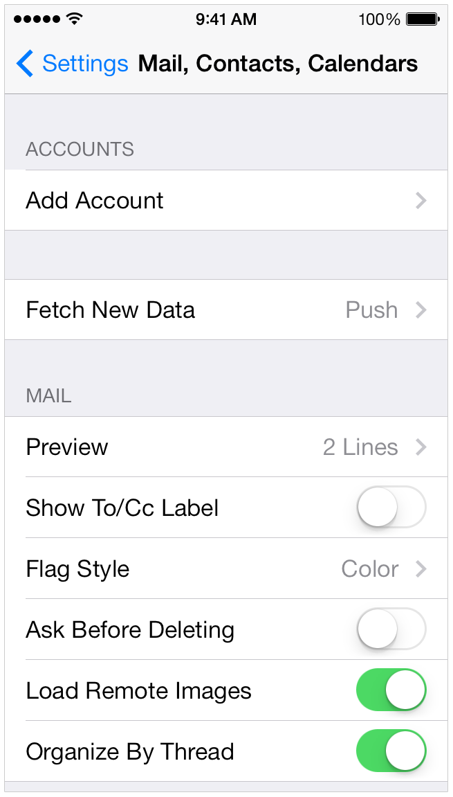 how to set up new mail account on iphone