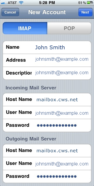 how to keep imap emails on server