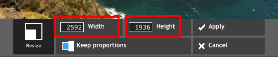 Update width or height