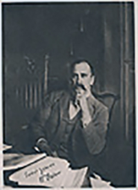 William Osler in his home library in Baltimore