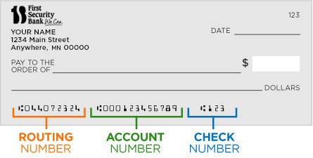 Example of Routing Number