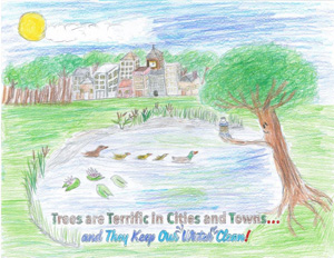 Arbor Day Winning Drawing