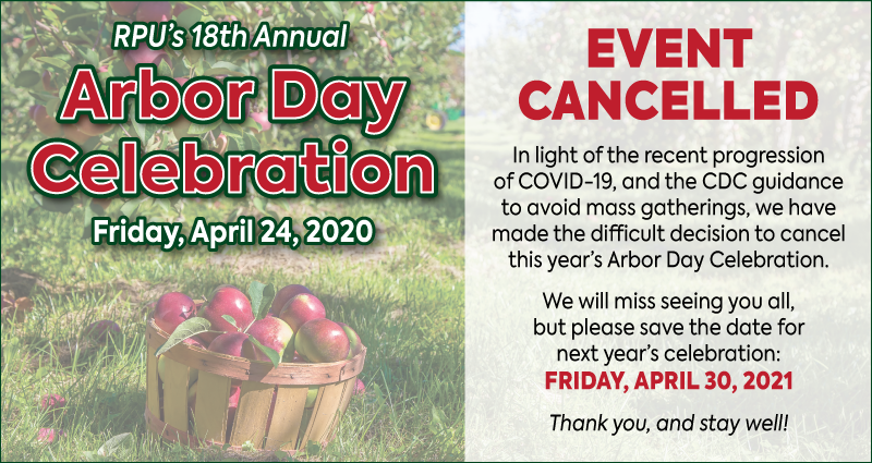 Arbor Day Celebration Cancelled