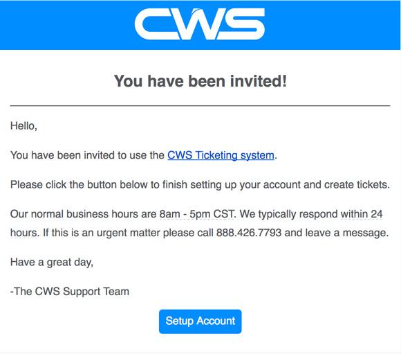 Portal Invitation Email